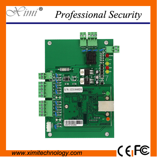 Free shipping 4000 user buffer door sensor TCP/IP network Lp01 one door access control board