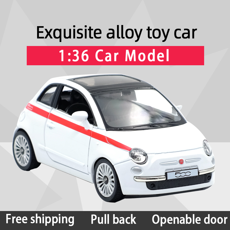 New Arrival RMZ CITY 1:36 500 Car Alloy Diecast Car Model Fiat Toy With Pull Back For Children Gifts Toy Collection