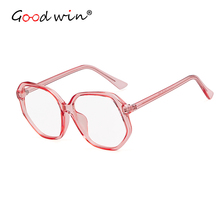 Good Win High Quality Women Sunglasses 2019 Brand Designer Big Hexagon For Men Pink Transparent Colored Glasses