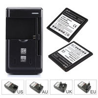 For Samsung Galaxy Grand Prime G5308W 2x2800mAh Cell Phone Replacement Battery EB BG530BBC USB Wall Charger