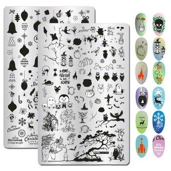 Plantillas de esténcil para manicura y sello de uñas con diseño de ...