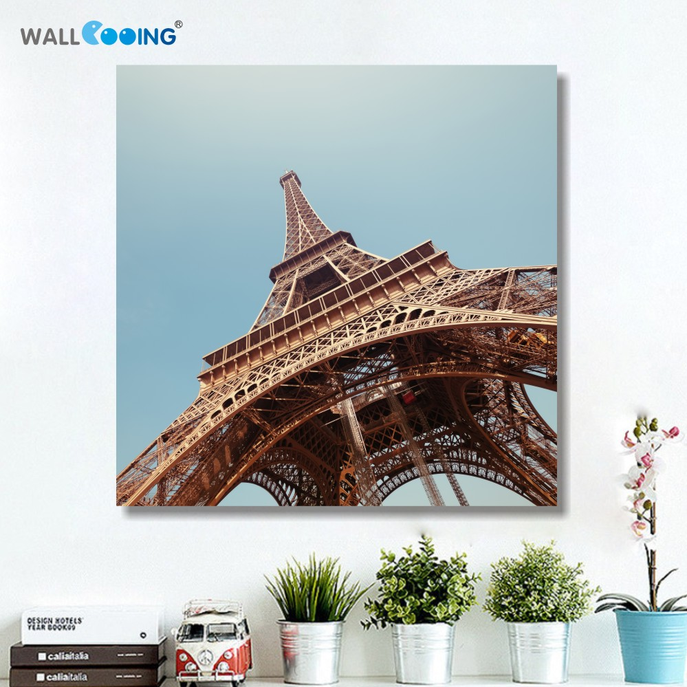 krajina zeď papee plátno nástěnná malba obraz Paříž Eiffelova věž město obrázky pro dekorace do obývacího pokoje v rámu umění levné