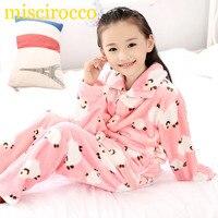 Autumn Winter Children Fleece Pajamas Warm Flannel Sleepwear Girls Loungewear Coral Fleece Kids Pijamas Homewear Winter
