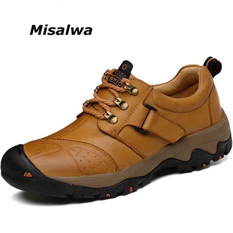 Misalwa Spring Winter Plush Men Big Size Casual Leather Shoes Men's Genuine Leather Black Plus Size Shoes High Quality Drop Ship drop shoulder high low plus size tunic sweater