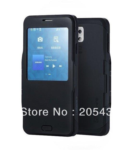wholesale dealer 7478c 9de95 US $15.98 |Galaxy Note 3 S View SPIGEN SGP Slim Armor Automatic Sleep/Wake  Flip Cover Case For Samsung Galaxy Note 3 N9000 on Aliexpress.com | Alibaba  ...