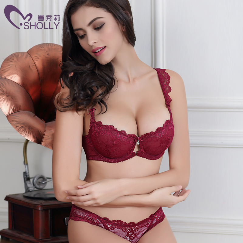 21d77306203 French brand ABCD 32-42 sexy T-pants romantic temptation lace bra set young  women underwear set push up lade bra & panty set