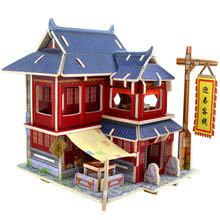 Assembly model house 2017 DIY Wooden House Furniture Handcraft Miniature Box Creative Gift Toy 3D Puzzle Festival ov14 p30(China)