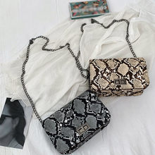 luxury handbags women bags designer Serpentine Small Square Crossbody Bags Wild Girls Snake Print Shoulder Messenger Bag#H10(China)