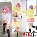 Ohcos equipado suéter de la capa + falda + corbata + pelucas noragami ebisu kofuku dress cosplay traje de halloween