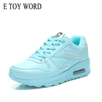 E TOY WORD Women S Autumn Shoes Breathable Air Cushion Shoes Casual Outdoor Walking Sneakers Lace