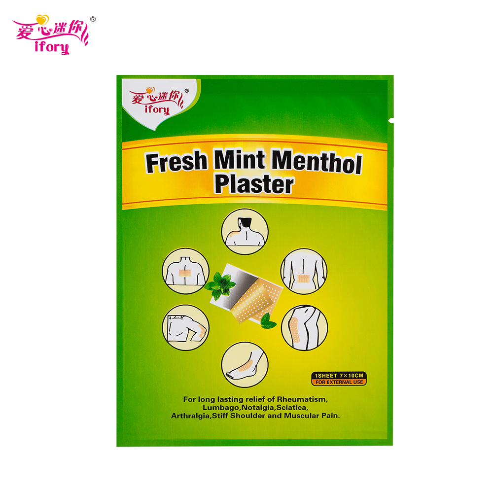 Ifory 10 Pieces/Lot Health Care Fresh Mint Menthol Plaster 7X10cm Pain Relief Patch Medicated Joint Pain Relief Body Massager