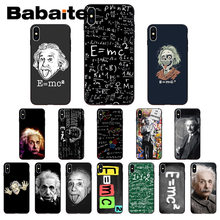 for iphone 11pro max Babaite e mc2 E=mc Math Albert Einstein Phone Case Shell for iphone X XS MAX 8 7plus 5S SE 6s XR Cover(China)