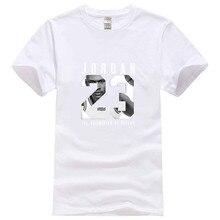 Primavera E Nova Moda 23 Bola Rei Michael Jordan camisa Impressão de T  Harajuku T-shirt de Algodão de Lazer dos homens de Fitnes. e4b809670