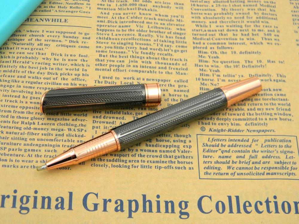 Write Smoothly rose golden Gun gray gift Wave accessories BallPoint Pen