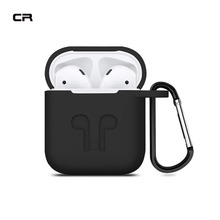 Duszake Silicone Protective Case for AirPods Charging Case Shockproof Earpods Cover Box with Anti-lost Strap for Apple Earpods
