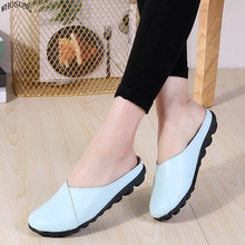 WHOSONG Women Shoes Soft Genuine Leather Flats Fashion Casual Ladies Driving Loafers Moccasins Shoes  slippers M34 shoes women 2017 new women genuine leather flats casual female moccasins spring summer lady loafers women driving shoes