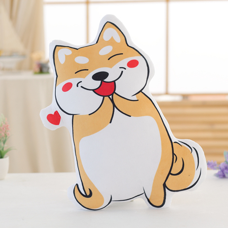 Nooer Cartoon Cute Stuffed Cotton Shiba Inu Pillow Soft Cushion Plush  Shiba Inu Dog Toy Doll Kids Children Gift Free Shipping 1pcs 22cm fluffy plush toys white eyebrows cute dog doll sucker pendant super soft dogs plush toy boy girl children gift