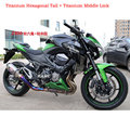 Personalizado de escape akrapovic titanium de la aleación de la motocicleta silenciador tubo hexagonal echappement moto para kawasaki z800