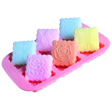 DIY baking cake mold silicone handmade soap molds square moon chocolate making mould