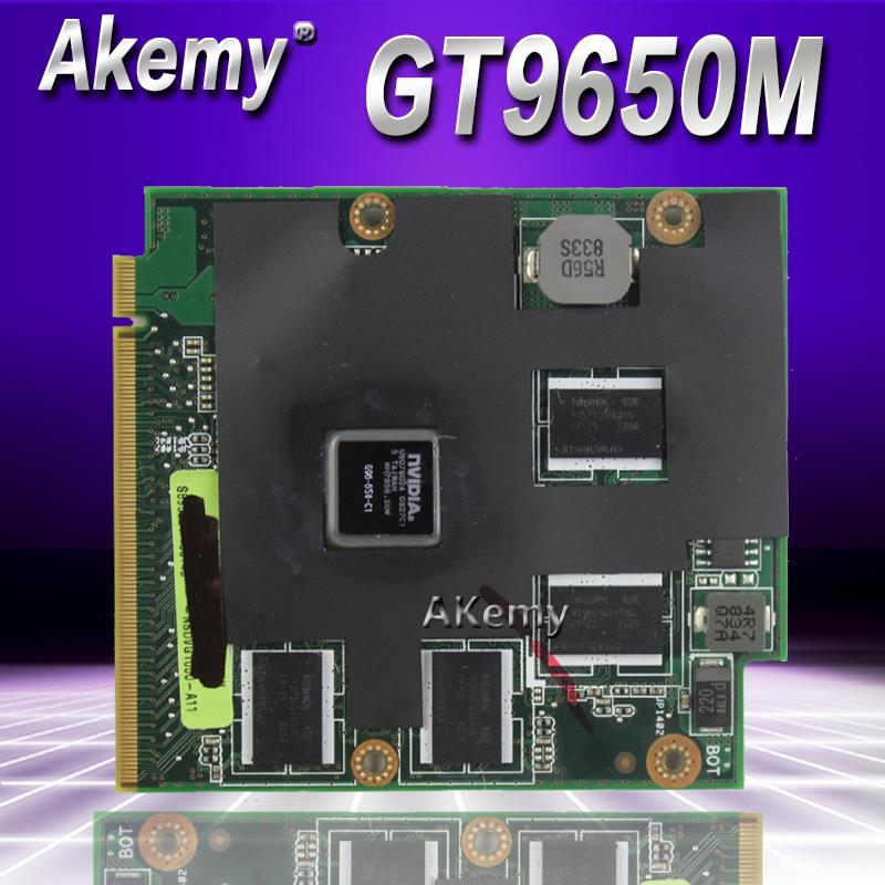 AKemy Original 9650M GT 9650MGT G96-650-C1 1024MB MXM-II Vga Card For ASUS X83V N80V M50V M70V X57V F8V A8S F8S N80V Laptop