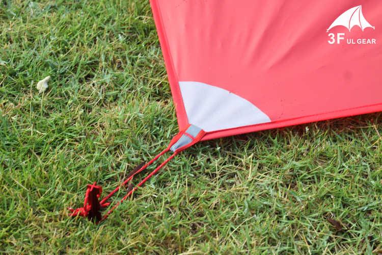 Minicanteira ultraleve para acampamento, 3f ul gear leve de silicone 20d nylon 210*150cm