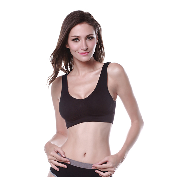 2019 New Women Sports Fitness Gym Yoga Elastic BH Underwear Unlined Cozy Push Up Active Bra Crop Tops for Summer Solid Color