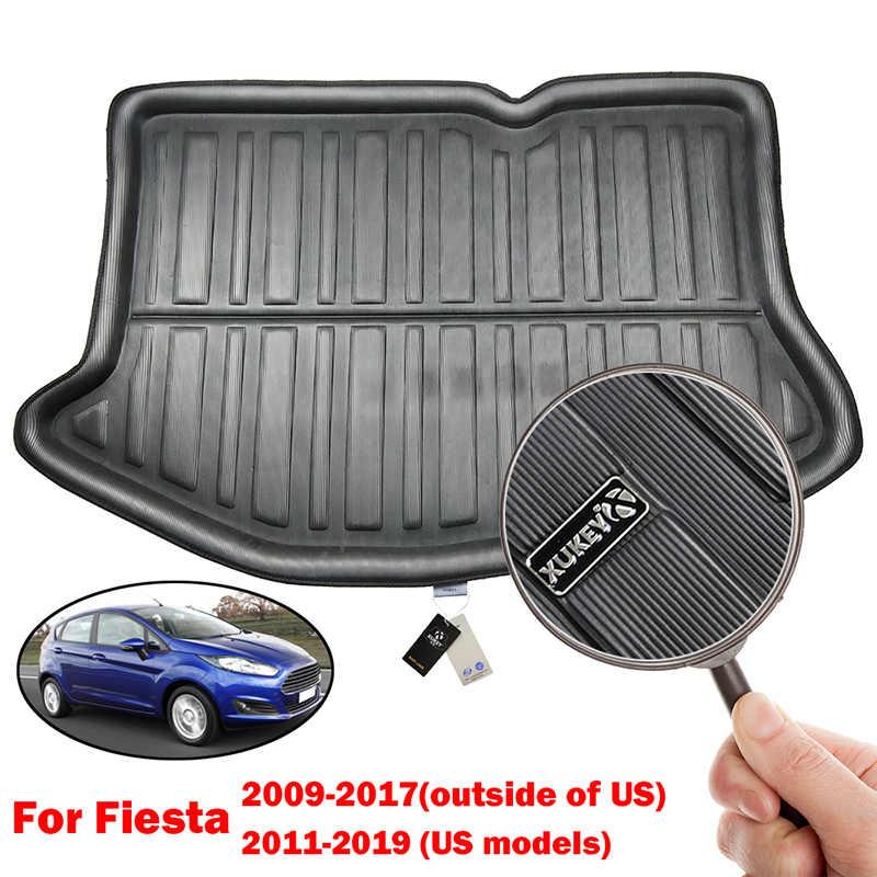 Fit Voor Ford Fiesta Hatchback Boot Liner 2009-2017 Kofferbak Mat Cargo Tray Floor Tapijt 2010 2011 2012 2013 2014 2015 2016