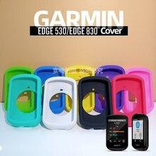Garmin edge 530 830 capa protetora 820 silicone capa protetora gps bicicleta computador película da tela de proteção