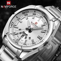 2017 NAVIFORCE New Top Brand Men Watches Men S Full Steel Waterproof Casual Quartz Date Clock