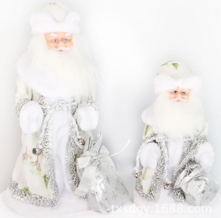 Electric  Lighting Music Stepping Santa Claus Christmas Ornaments Figurines Decorations Singing Russian Songs