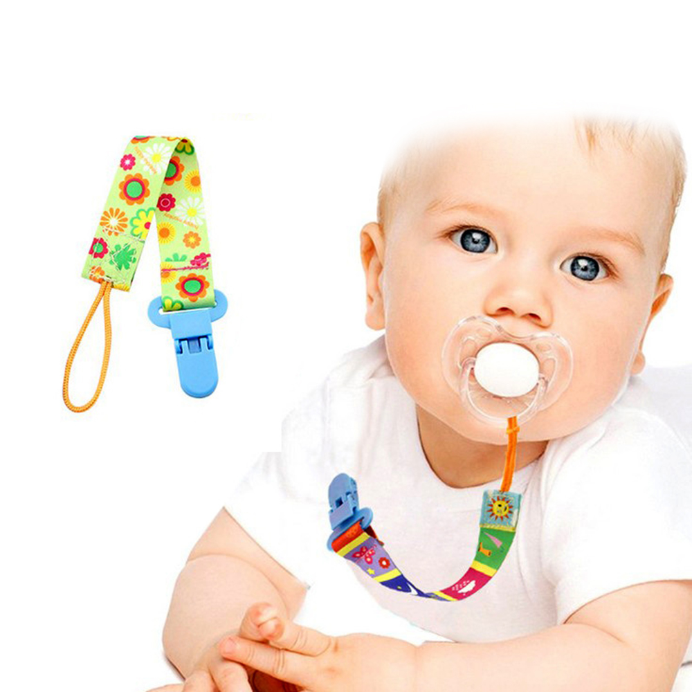 Flower Baby Pacifier Clips Chain Dummy Clip Nipple Holder For Nipples one