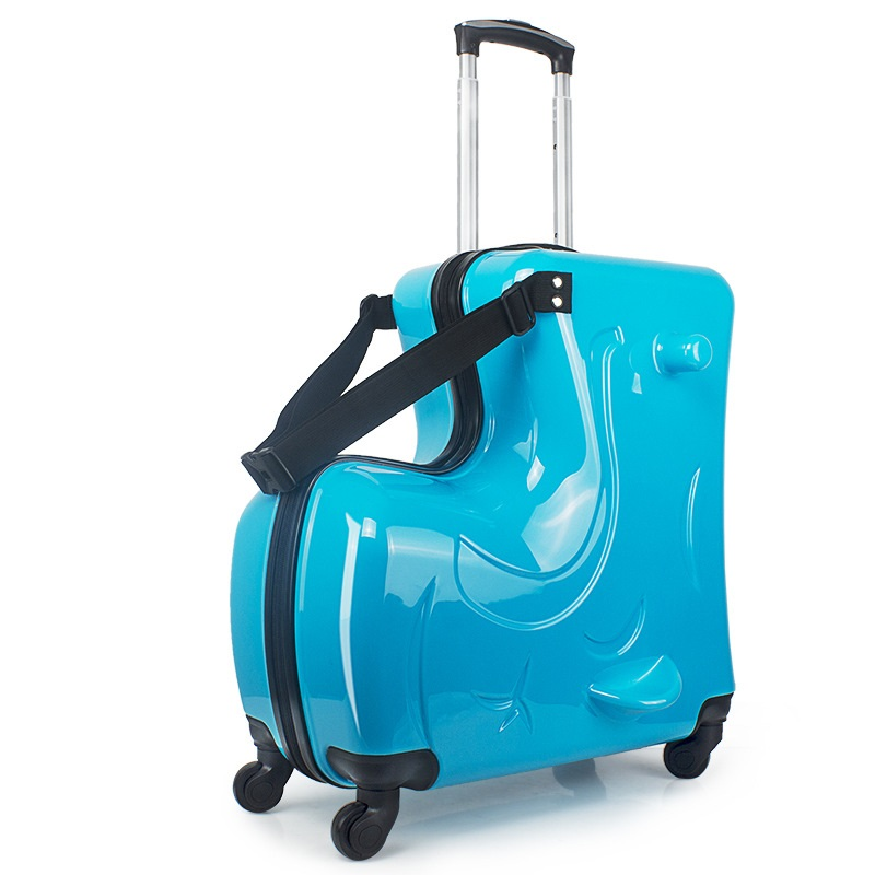 20 Inch Children Luggage Trolley Case Caster Rod Boy Girl Kid Pull Box Can Sit To Ride Check Gift In Rolling From Bags On