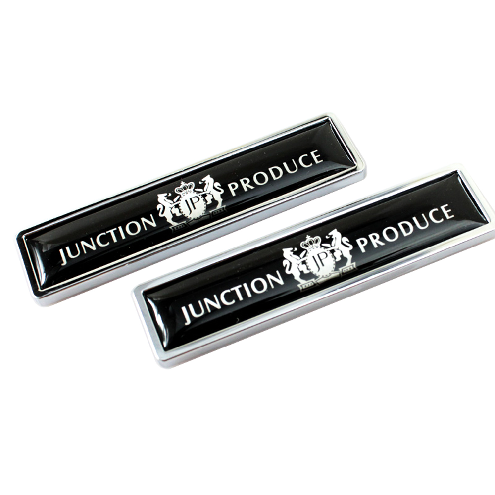 JUNCTION PRODUCE JP logo badge emblem decal sticker for VIP Mercedes Benz BMW Audi Ford Volkswagen Nissan Toyota Chevrolet Honda car floor mats covers free shipping 5d for toyota honda for nissan hyundai buick for ford audi benz for bmw car etc styling