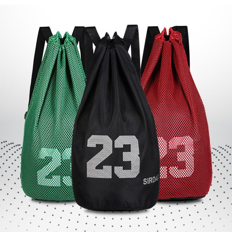 Large Size Mesh Waterproof Basketball Volleyball Soccer Football Outdoor Sports Backpack  Sling Bag Shoulder Bag