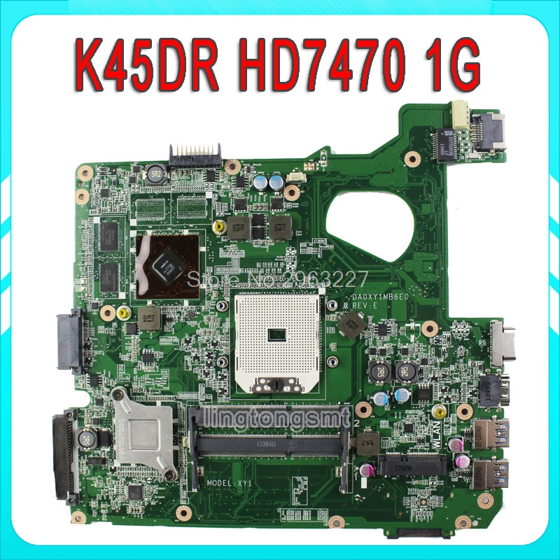 Здесь продается  For ASUS motherboard A45D A45DR K45D K45DR R400D R400DR Mainboard HD 7470M 1 GB 216-0809000 100% tested  Компьютер & сеть