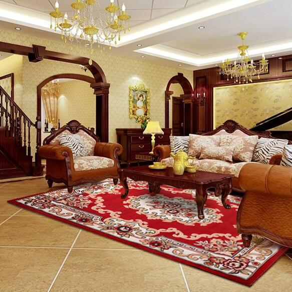 Ameircan Style grand épais Floral moderne tapis absorbant antidérapant pour salon tapis chambre Table basse zone tapis tapis de jeu