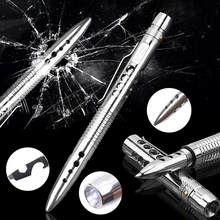 COG T01 Self Defense Tactical Pen EDC Stainless Steel Survival Tool w/ LED Flashlight Knife SawTungsten Head Bottle Opener