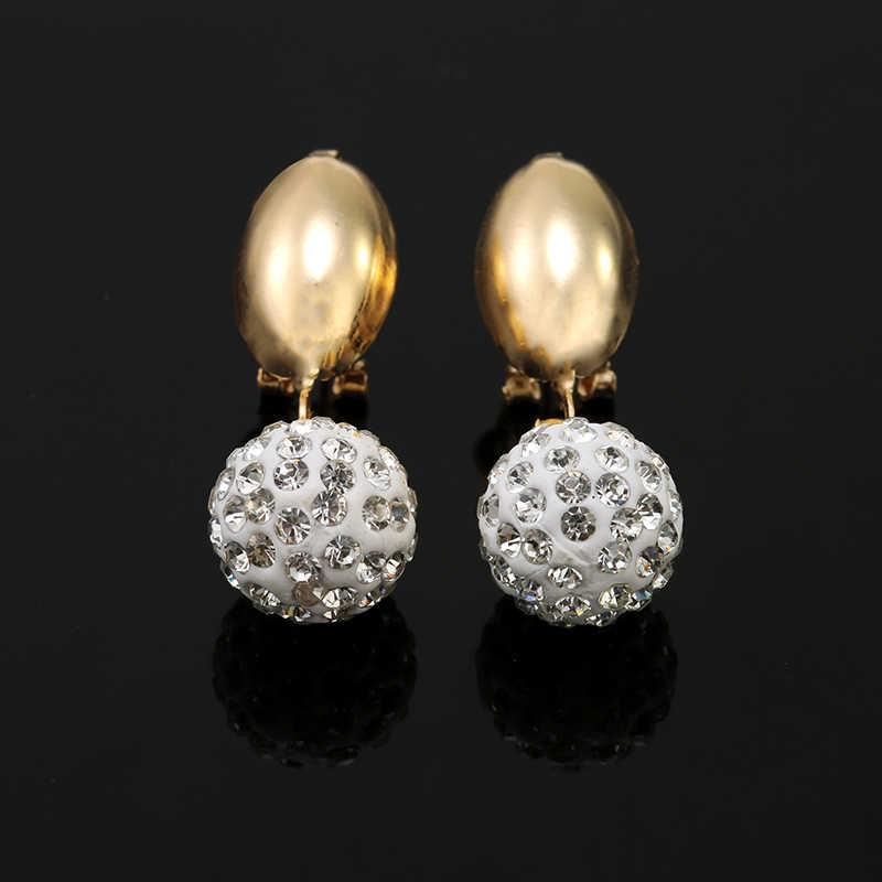 ZuoDi Woamn אופנה מסיבת חתונת זהב צבע שרשרת סטי תכשיטי כלה סטי תליון ועגילים וצמיד טבעת