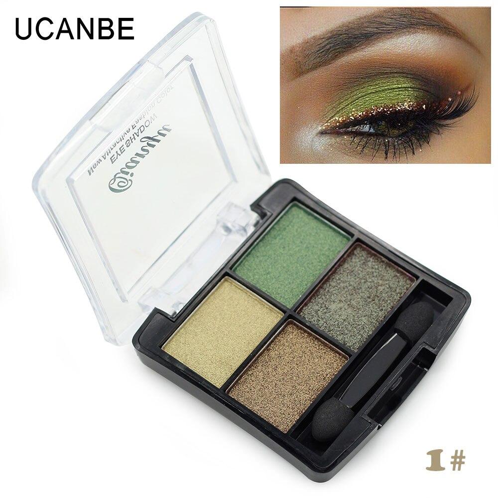 Brillo sombra de ojos paleta profesional naked maquillaje 4 marca de moda de col