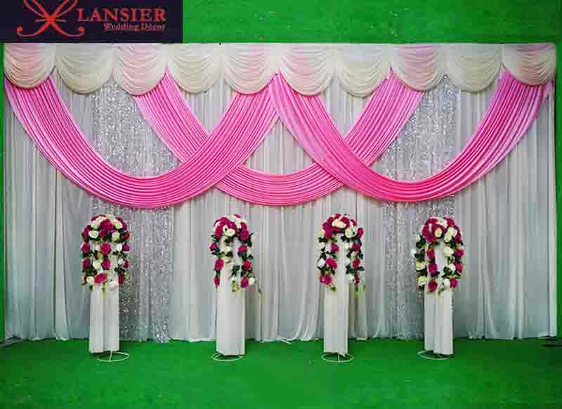 Creative ceremony backdrop ideas event party sequin shinning ...