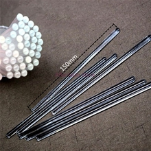 15CM Lipsticks Glass Stirring Rod Round Head Transparent Bar Solid Length 15cm Lipstick Stick Tool