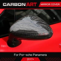 Car Rearview Mirror Cover For Porsche for Panamera 971 2017 2018 Side Wing Trim real Carbon Fiber LHD for porsche car styling
