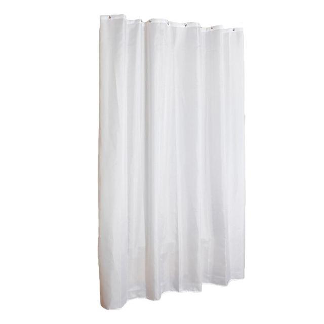 Elegant Dacron White Shower Curtain Dampproof Mildewproof Waterproof Window With Hooks For Living Room Bathroom Bedroom