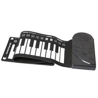 Portable Flexible Digital Keyboard Piano 49 Keys Tones Rhythms Electronic Roll Up Piano Toys FH99