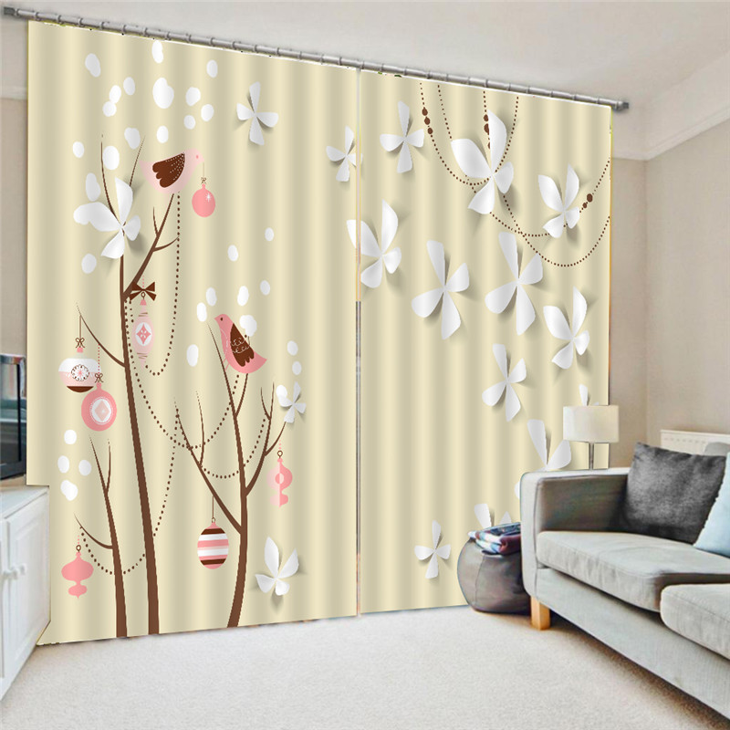 Hot Creative 3D Curtain Printing Blockout Polyester Flower Photo Drapes Fabric Window Living Room Curtains Design Modern Oct24