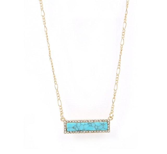 Stone Appeal Long Bar Pendant Delicate Necklace Women 3