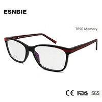 ESNBIE TR90 Plastic Memory Male Myopia Frame Full Rim Optical Glasses Frame Unisex Eyeglasses Frames Women