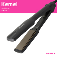 Professional Electronic Hair Straightener Irons Kemei Adjustable Temperature Portable Ceramic Flat Straightening Styling Tools