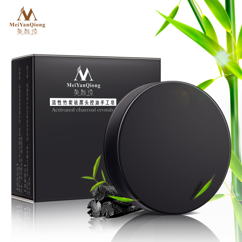 Handmade Soap Bamboo Charcoal Deep Cleaning Skin Whitening Soap Blackhead Remover Oil Control Face Care Bath Skin Care