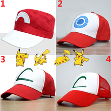 0a60fb2a1f694 4 Style Pokemon Cap Cosplay Props Go Ash Ketchum Hat Embroidery Adjustable  Snapback Caps Unisex Anime